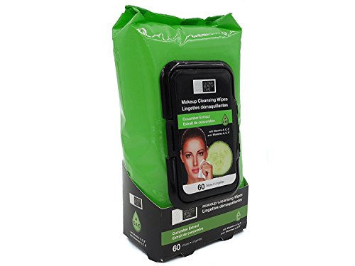 Global Beauty Care 51842 Cucumber Extract Makeup Wipes