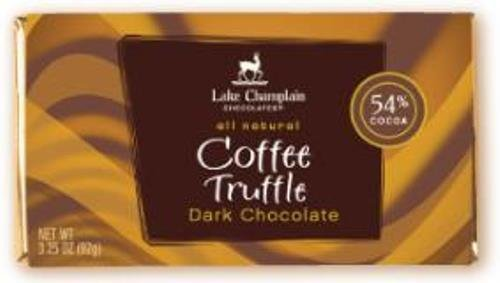 Lake Champlain Chocolates Lake Champlain Choc Dark Chocolate Coffee Truffle Bar, 3.2500-ounces (Pack of 5)