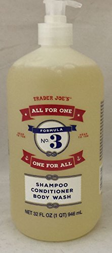 "Trader Joe's - Formula No.3 ""All for One, One for All"" Shampoo Conditioner & Body Wash"