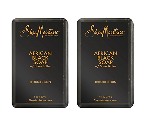 Shea Moisture - SheaMoisture African Black Soap, 8 Ounces, Pack of 2