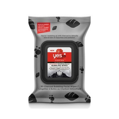 Yes To Yes To Tomatoes Charcoal AntiPollution Bubbling Facial Wipes Facial Cleanser - 30ct