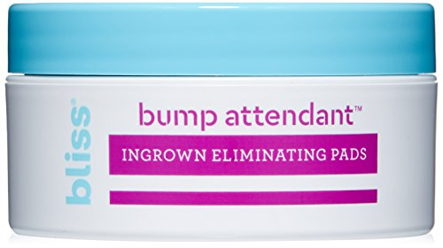 bliss - Bliss Bump Attendant, Ingrown Hair Eliminating Pads | Use Between Waxing/Shaving Sessions | Paraben Free, Cruelty Free | 25 Pads