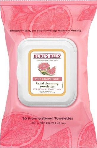 Burt's Bees - Facial Cleansing Towelettes, Pink Grapefruit