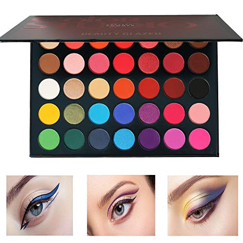 Beauty Glazed - Beauty Glazed Pressed Powder 35 Colors Shimmer Matte Eyeshadow Palette Color Studio Eye Makeup High Pigment Natural Colors Makeup Palette Eye Shadow
