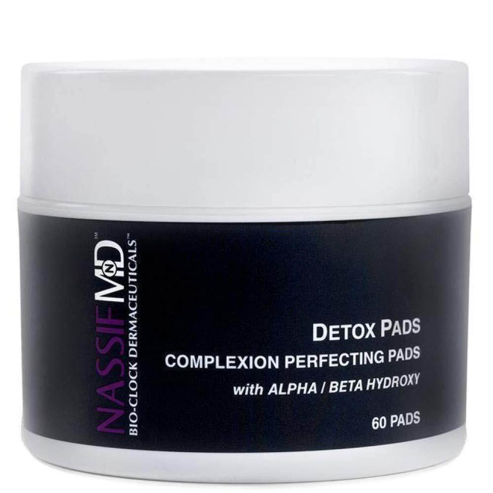 null - NassifMD Face Detox Pads - Facial Wipes to Help Reduce Pores, Brighten and Smooth Skin (60 Pads)