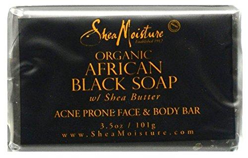 Shea Moisture - Shea Moisture Soap 3.5 Ounce Bar African Black (Organic) (103ml) (3 Pack)