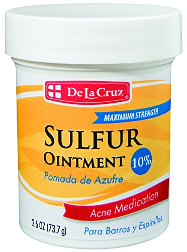 De La Cruz De La Cruz 10% Sulfur Ointment Acne Medication, Allergy-Tested, No Preservatives, Fragrances or Dyes, Made in USA 2.6 OZ.