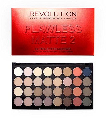 Makeup Revolution - Makeup Revolution Eyeshadow Palette, 32 Colors, Flawless Matte 2