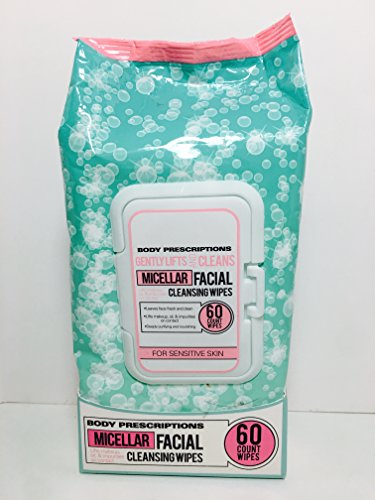 Body Prescriptions - BODY PRESCRIPTIONS Gently Lifts and Cleans Micellar Facial Wipes (Sensitive Skin) 60 Wipes