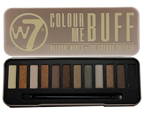 W7 - W7 - 'In the Buff' Natural Nudes Eyeshadow Color Palette - 12 Natural and Striking Complimentary Brown and Nude Shades