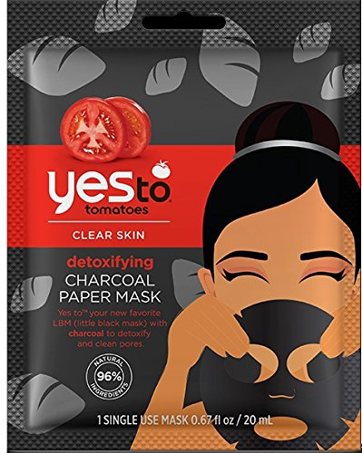Yes To - Tomatoes Clear Skin Detoxifying Charcoal Paper Mask