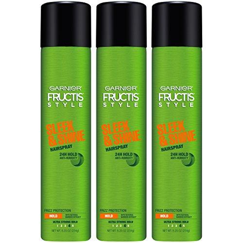 Garnier - Garnier Fructis Style Sleek & Shine Hairspray, All Hair Types, 8.25 oz. (Packaging May Vary), 3 Count