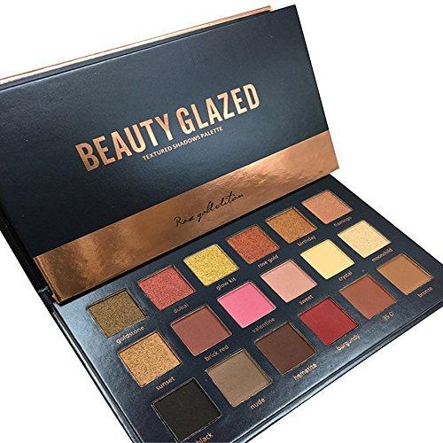 Beauty Glazed - 18 Colors Rose Gold Textured Eyeshadow Palette