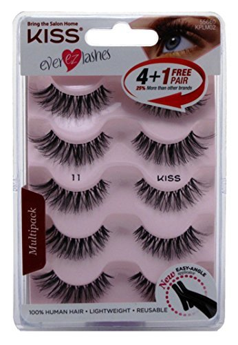 Kiss - Kiss Ever Ez 11 Lashes 4 + 1 Pairs (2 Pack)