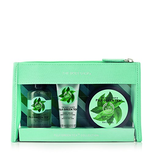 The Body Shop - The Body Shop Fuji Green Tea Beauty Bag Gift Set, 3pc Bath and Body Gift Set of Travel Size Fuji Green Tea Body Care