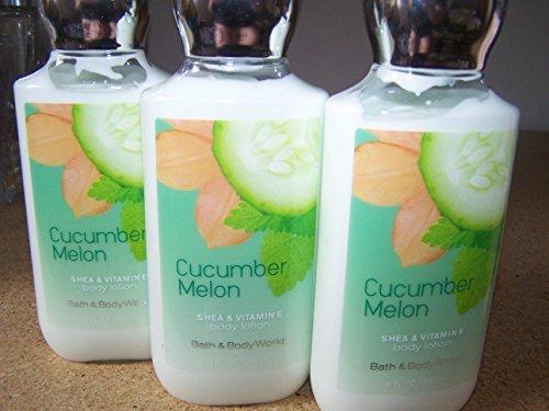Bath & Body Works - Lot of 3 Bath & Body Works Cucumber Melon Shea & Vitamin E Body Lotion 8 Fl Oz Each (Cucumber Melon)