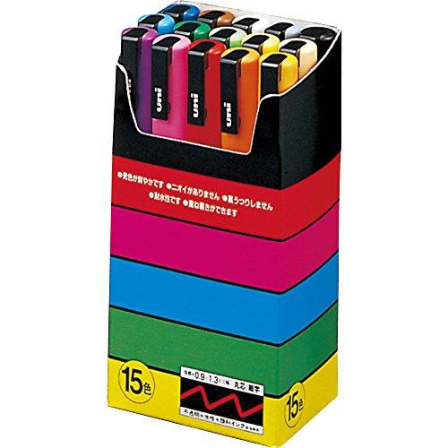 uni - Uni-posca Paint Marker Pen - Fine Point - Set of 15 (PC-3M15C)