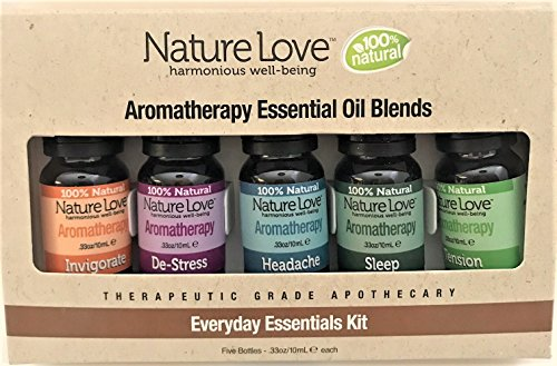 Nature Love Inc - Everyday Aromatherapy Essential Oil Blends, Destress Series