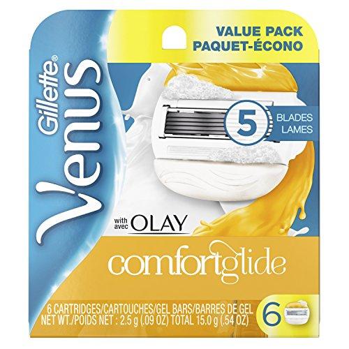 Gillette Venus - Gillette Venus ComfortGlide with Olay Women's Razor Blades, 6 Count