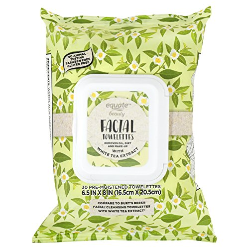 Equate Facial - Facial Cleansing Towelettes White Tea Extract