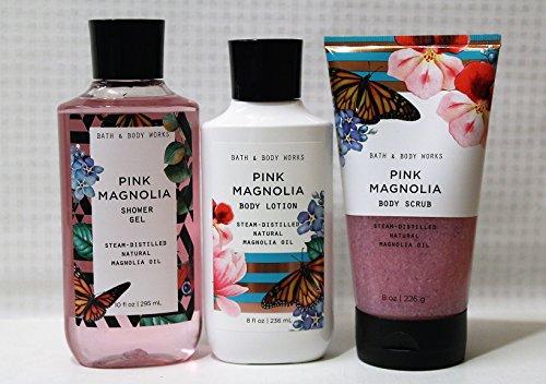 Bath & Body Works - Pink Magnolia 3 pc. Gift Set