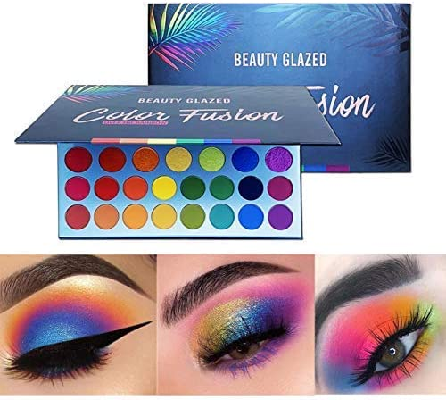 Beauty Glazed Beauty Glazed High Pigmented Makeup Palette Easy to Blend Color Fusion 39 Shades Metallic and Shimmers Eyeshadow Sweatproof and Waterproof Eye Shadows