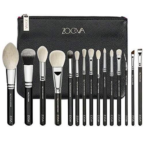 ZOEVA - Zoeva Luxe Complete Set Fly Me To The Moon Exclusive Luxe Selection Of 15 Professional Brushes For Face and Eyes Made Of Both, Natural and Synthetic Bristles