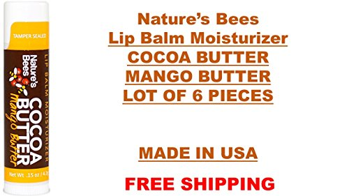 Nature's Bee - Nature's Bee Lip Balm Moisturizer Cocoa Butter Mango Butter (Lot of 6) Fresh Lot, Fast,