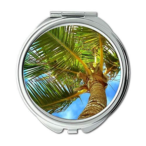 Yanteng - Mirror,Compact Mirror,beach caribbean clouds,Pocket Mirror,portable mirror