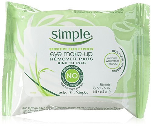 Simple - Simple Sensitive Skin Experts Eye Make-Up Remover Pads 30 ea (Pack of 6)