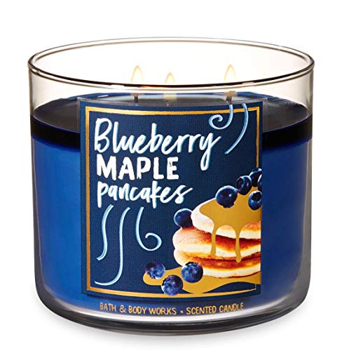 Bath & Body Works - Bath and Body Works Blueberry Maple Pancakes Candle - Large 14.5 Ounce 3-wick Limited Edition Fall Cafe Candles