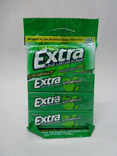 Gum & Mints - Extra Spearmint Sugar Free 5 Stick Case Pack 10