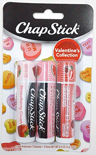 Chapstick - Valentine Collection, Strawberry Crush, Watermelon Kiss & Cherry Bomb