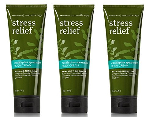 Bath & Body Works - Bath and Body Works Aromatherapy Stress Relief Eucalyptus Spearmint Body Cream 8 Ounce Lot Of 3 Original Packaging No Longer Sold In Stores