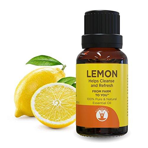 GuruNanda - GuruNanda Lemon Essential Oil - Aromatherapy - GCMS Tested & Verified 100% Pure Essential Oils - Undiluted - Therapeutic Grade -  15 ml