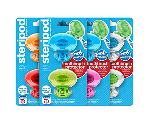 Steripod - Steripod Clip-on Toothbrush Protector (8 Steripods) Multi color