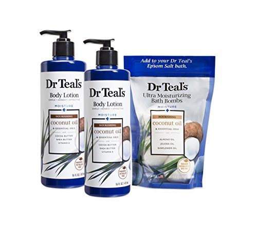 Dr Teal's - Body Lotion and Ultra Moisturizing Bath Bombs, Coconut