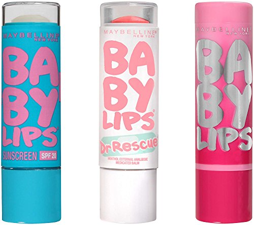 Maybelline New York - Maybelline New York NY Minute Makeup Kit Lip Care Essentials Makeup Kit, Baby Lips Lip Balm Makeup Kit