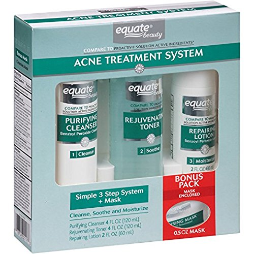 Equate - 3-Step Acne Treatment System + Mask