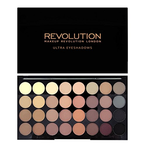 Makeup Revolution Ultra 32 Shade Eyeshadow Palette, Flawless Matte