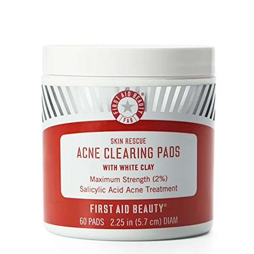 First Aid Beauty - Skin Rescue Acne Clearing Pads with White Clay
