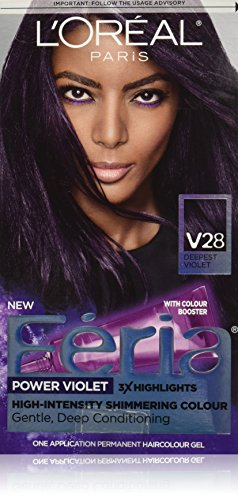 L'Oreal Paris - Feria Permanent Hair Color, V28 Midnight Violet (Deepest Violet)