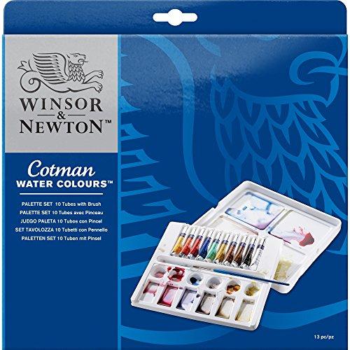 Winsor & Newton - Winsor & Newton Cotman Water Colour Paint Palette Set, Set of 10, 8ml Tubes