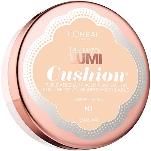 L'Oreal Paris - L'Oréal Paris True Match Lumi Cushion Foundation, N1 Soft Ivory, 0.51 oz.