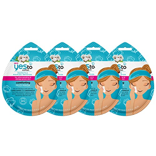 Yes To - Yes To Cotton Comforting Mud Mask Bundle (4 Single Use Masks)