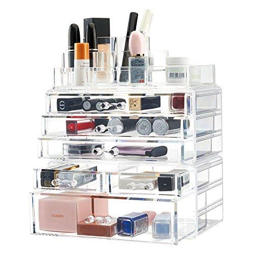 Twing - Premium Acrylic Makeup Jewelry Organizer, Clear