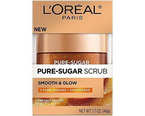 L'Oréal Pure - L'Oréal Pure Sugar Scrub Smooth & Glow plus Grapeseed, 1.7 oz. (Pack of 2)