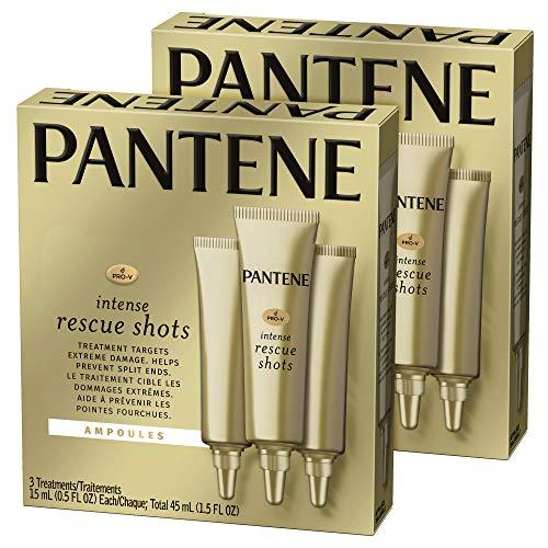 Pantene - Pantene, Rescue Shots Hair Ampoules Treatment, Intensive Repair of Damaged Hair, Pro-V, 0.5 fl oz (3 Count), Pack of 2