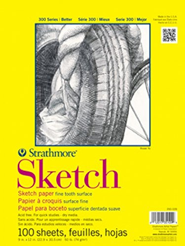 "Strathmore - Strathmore 350-6 300 Series Sketch Pad, 5.5""x8.5"" Wire Bound, 100 Sheets"