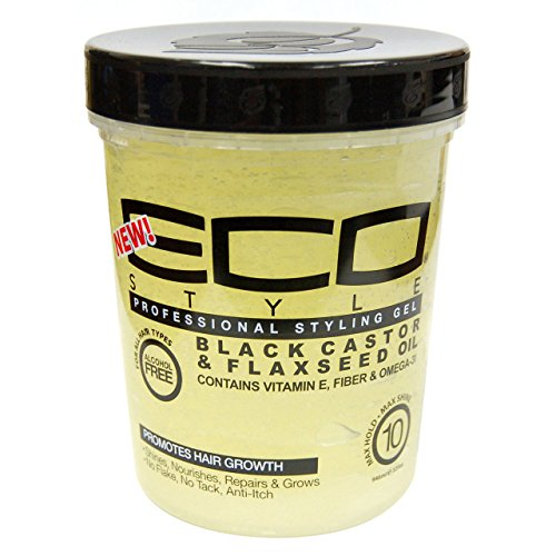 Eco Style - Gel Black Castor and Flaxseed Oil